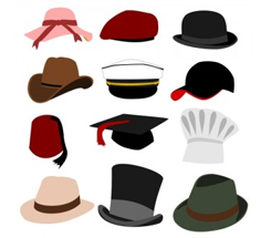 Hats, Caps, Bonnets, and Fedoras