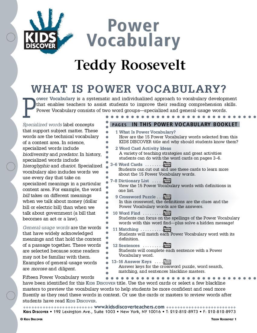 What is adventurous vocabulary?