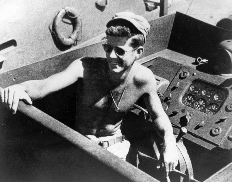 Lieutenant John F  Kennedy on PT 109 in the South Pacific in 1943. John F  Kennedy   Kids Discover